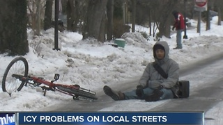 Icy problems on local streets - Video