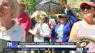 Friendships forming at Issa protests - Video