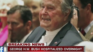 Former President George H. W. Bush hospitalized in Houston - Video