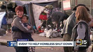 Event to help homeless shut down - Video