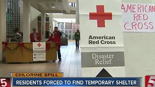 Dozens Use Temporary Shelter During Evacuation - Video