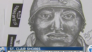 Sketch of suspect released after teen escapes kidnapping, sexual assault attempt in St. Clair Shores - Video