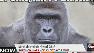 The most shared stories of 2016 - Video