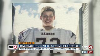 Riverdale High School student dies from heat stroke - Video