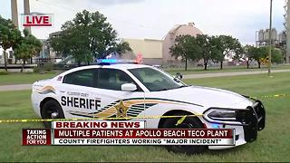 Several injured in major incident at Apollo Beach TECO plant - Video