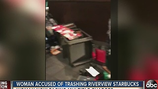 Deputies: Woman denied change for bus trashes Riverview Starbucks - Video
