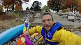 Kite-Powered Kayaks Might Not Be a Great Idea - Video