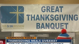 John 3:16 Mission serving Thanksgiving meals to local families - Video