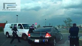 Driver helps end police chase in Michigan - Video