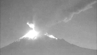Mexico's Popocatepetl Volcano Spews Lava as it Erupts - Video