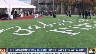 Cal Ripken Sr. Foundation opens new multipurpose park in Baltimore - Video