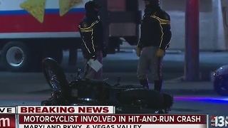 Police investigate hit-and-run crash involving motorcycle - Video