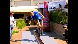 Unbelievable Unicycle Stunt
