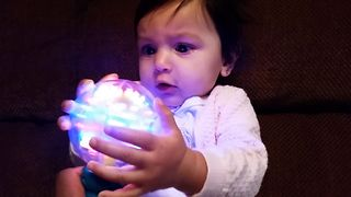 Baby Girl Loves Light Up Toy