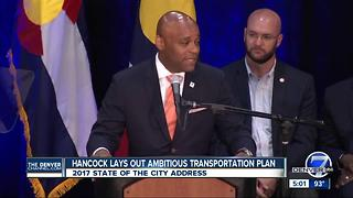 Hancock lays out ambitious transportation, housing plans in State of City address, slams Washington - Video