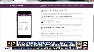 Mobile app brings food and retail items to airport gate