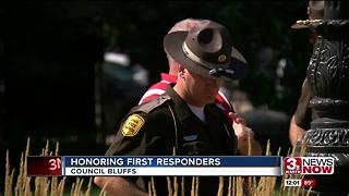 Council Bluffs honors first responders - Video