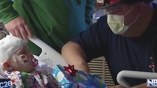 Green Bay firefighters deliver toys to children in the hospital