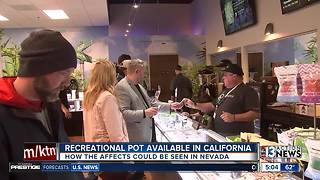 Nevada pot industry feels effects of California legalization - Video
