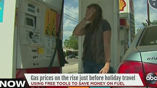 Gas prices on the rise just before holiday travel - Video