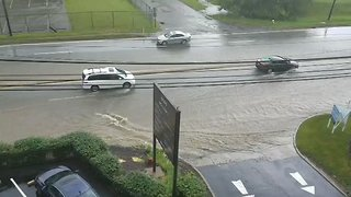 Roads Submerged by Flash Flooding in Pittsburgh Area - Video