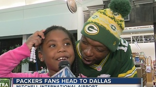 Green Bay Packers fans leave for Dallas - Video
