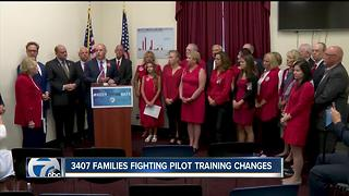 3407 Families angry with pilot training changes - Video
