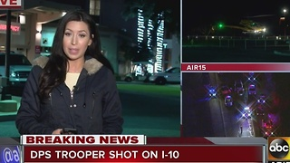 Update on DPS trooper shot on I-10 near Tonopah - Video
