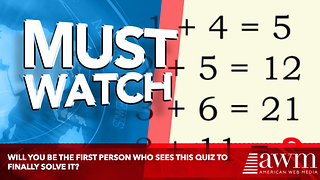 Will You Be The First Person Who Sees This Quiz To Finally Solve It?