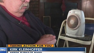 Man needs help getting furnace fixed - Video