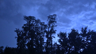 Incredible Tampa Blue Sky Sheet Lightning Storm - Video