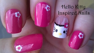 Hello Kitty Inspired Nail Art Design - Video