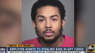 Man accused of stealing $30k in Target gift cards