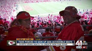 Chiefs fans angry their ADA seats replaced - Video