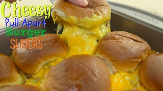 Easy dinner recipe: Cheesy pull-apart burger sliders - Video