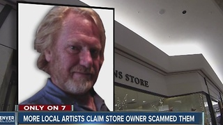 More local artists say the owner of a Cherry Creek mall Christmas store owes them money - Video