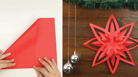 Origami paper star