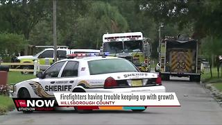 Firefighters having trouble keeping up with growth