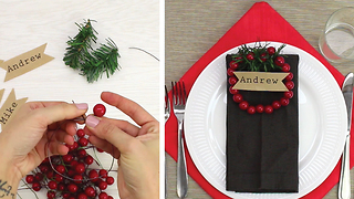 DIY Berries place cards - Video