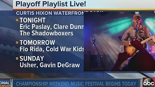 AT&T Playoff Playlist concerts at Curtis Hixon Waterfront Park - Video