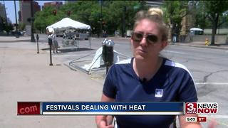 Festivals preparing for hot weekend