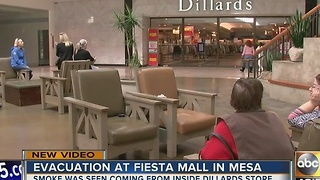 Mesa mall evacuated after worker stranded in elevator - Video