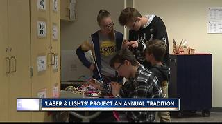 Engineering students create LED light displays - Video