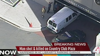 One shot, killed in Plaza Library parking garage - Video
