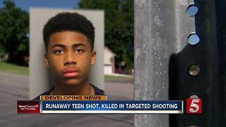 Runaway Teen Killed In Targeted Shooting - Video
