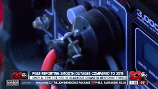 PG&E reporting power outages are going more smoothly compared to last year
