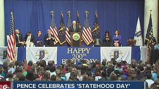 Gov. Pence celebrates Statehood Day - Video