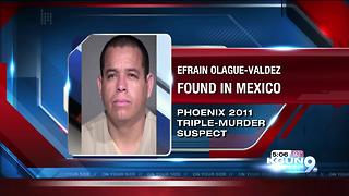Triple murder suspect extradited from Mexico to Phoenix