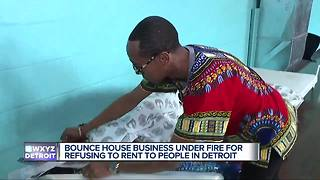 Bounce house owner refusing to rent to people in Detroit - Video