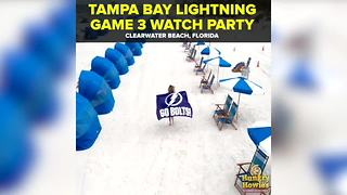Tampa Bay Lightning Game 3 Watch Party at Clearwater Beach | Taste and See Tampa Bay - Video
